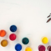 An array of different colored craft paints.