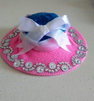 Upcycled Mini Easter Hat - finished