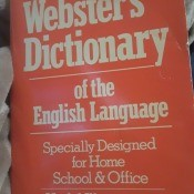 Value of a Webster's Dictionary - cover of the book