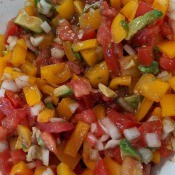Bell Pepper Salsa in bowl