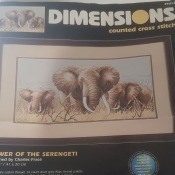 Finding a Dimensions Cross Stitch Pattern - kit photo showing the image of the finished pattern