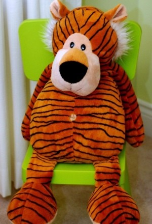 Identifying a Stuffed Tiger - tubby stuffed tiger