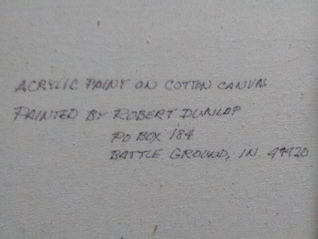 Information on a Robert Dunlap Painting