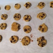 Coconut Flour Chocolate Chip  on baking sheetCookies