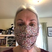 Fabric Face Mask - ready to go for a walk