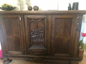 Value of a Vintage Two Door Cabinet or Sideboard - two door sideboard with carved center panel