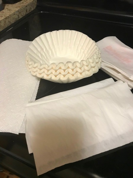 Different items that can be used to help filter a face mask.