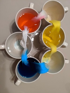 Use Leftover Egg Dye for Craft Projects