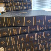 Value of a Set of 1950 Encyclopedia Britannica 1768 Edition - stack of books
