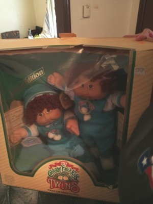 Selling Cabbage Patch Dolls - twin dolls in the box