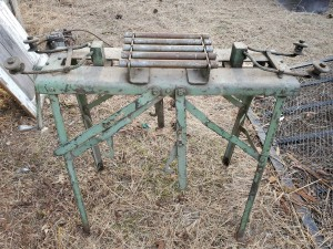 Identifying an Old Piece of Equipment - vintage piece of metal equipment, sort of a table