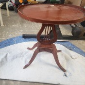 Value of a Mersman Lyre Table - lyre table in need of refurb