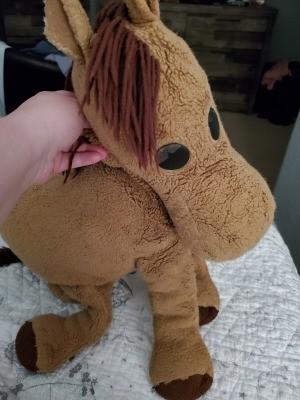 Identifying a Stuffed Horse - floppy brown stuffed horse