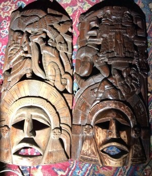 Identifying Carved Wooden Masks - intricately carved wooden masks