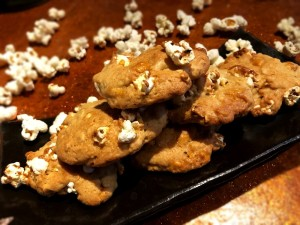 Butterscotch Popcorn Cookies on plate