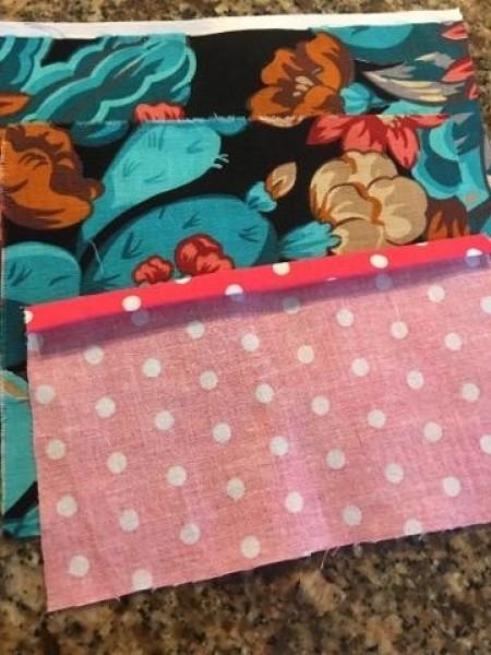 Tissue Case with Pocket - turning under edge twice