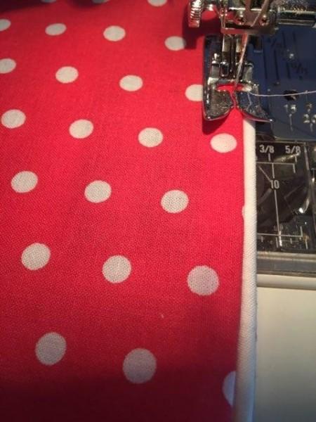 Tissue Case with Pocket - sewing hem on pocket piece