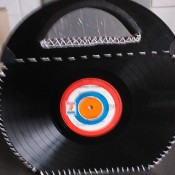 Bag Made from Two Vinyl Records