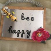 Bee Happy Garden Sign - assembled sign