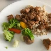 Dak Bulgogion plate with veggies