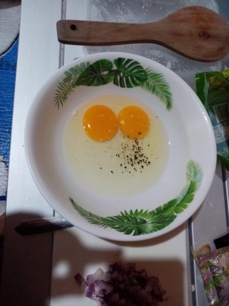 mixing eggs