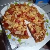 cut Instant Noodle Pizza