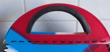 Bag Made from Coloured Vinyl Records
