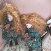 Identifying a Porcelain Doll - two dolls with combed out hair