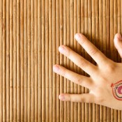 Temporary tattoo on child's hand.
