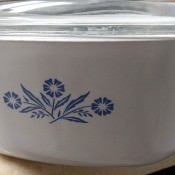 Value of Vintage CorningWare - cornflower CorningWare covered baking dish
