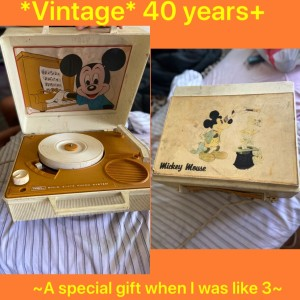 Value of a Vintage Disney Record Player - Mickey Mouse record player