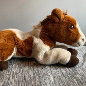 Identifying a Horse Stuffed Animal  - brown and white pinto horse