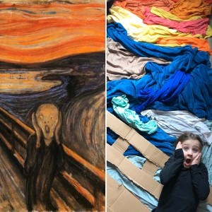 Remaking 'The Scream'- montage of the painting and the recreation