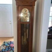 Value of a Grandfather Clock - full length photo of the clock