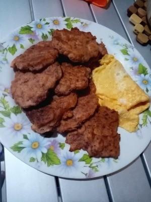 Corned Beef Patties on plate