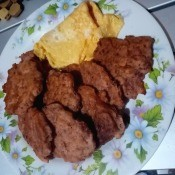 Corned Beef Patties on plate
