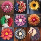 Business Name Ideas for a Wreath Company - collage photo of various wreaths