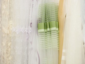 A selection of translucent curtains.