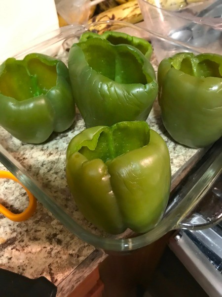 blanched Green Peppers