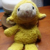 Identifying a Stuffed Lamb Toy - small yellow and white stuffed lamb toy