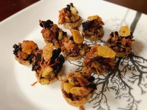 baked Crispy Stuffed Mushrooms on plate