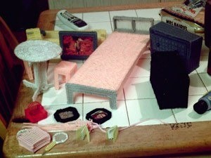 Making Plastic Canvas Doll Furniture - examples
