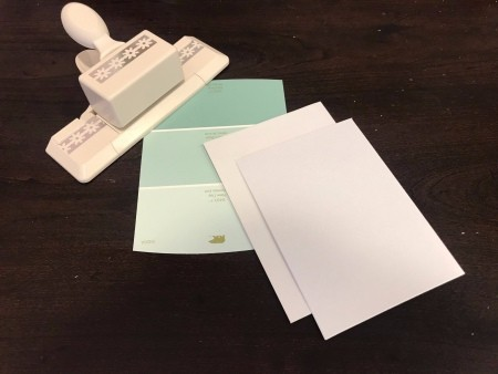 Simple Paint Chip Mother's Day Cards - supplies