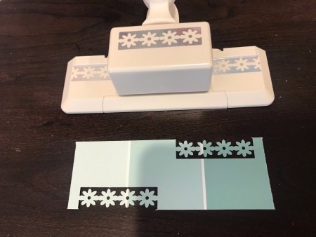 Simple Paint Chip Mother's Day Cards - adding paper punch accents