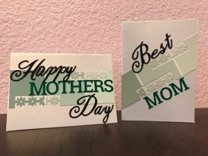 Simple Paint Chip Mother's Day Cards - two different styles of Mother's Day cards
