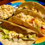 Mexican Street Corn Tacos on plate
