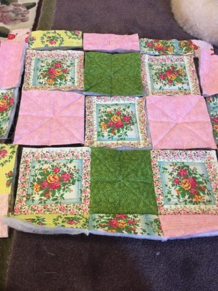 I Never Promised You a Rose Garden (Quilt) - layout of quilt top