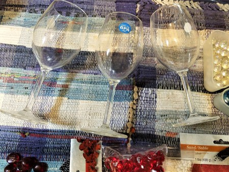 Red, White, and Blue Decor - plastic goblets