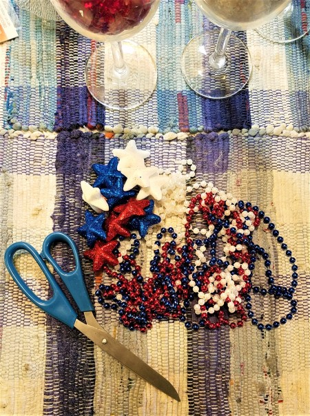 Red, White, and Blue Decor - supplies