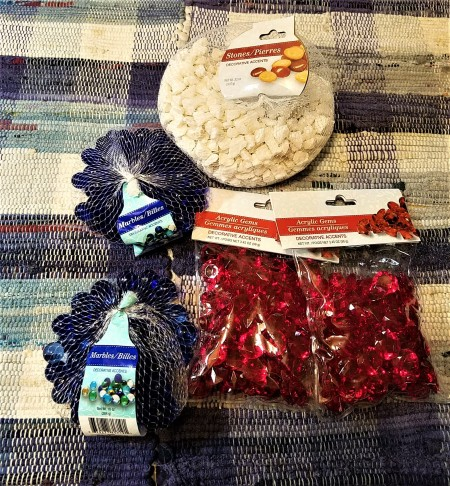 Red, White, and Blue Decor - bags of fillers